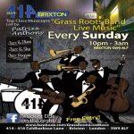 Grass Roots Live Music Sundays at Club 414, Brixton, London, SW9 8LF