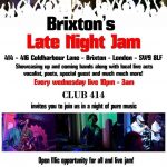 Brixton's Late Night Jam at Club 414, Brixton, London, SW9 8LF