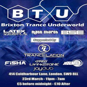Brixton Trance Underworld vs Trancelation @ Club 414 Brixton - Flyer