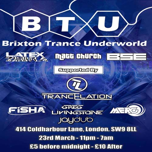 Brixton Trance Underworld vs Trancelation