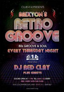 Brixton's Retro Groove @ Club 414 Brixton - Flyer