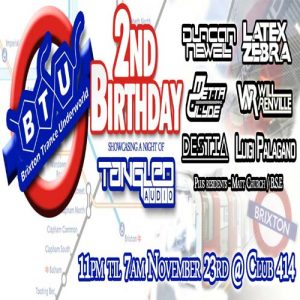 Brixton Trance Underworld 2nd Birthday with Tangled Audio @ Club 414 Brixton - Flyer