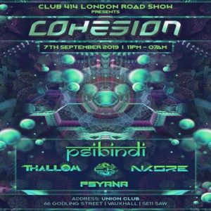 The Club 414 Road Show Presents COHESION @ Club 414 Brixton - Flyer