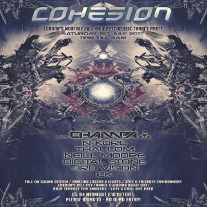 Cohesion PsyTrance Adventure @ Club 414 Brixton - Flyer