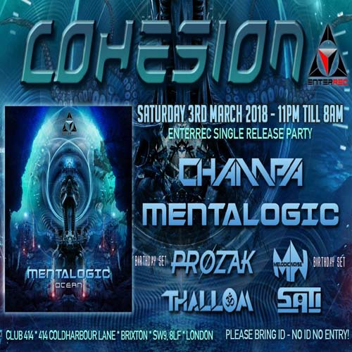 Cohesion Psytrance Adventure Presents: Enterrec Single Release Party.