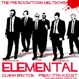 ELEMENTAL @ Club 414 Brixton - Flyer