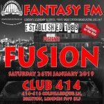 Fantasy FM presents: FUSION at Club 414, Brixton, London, SW9 8LF