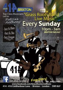 Grass Roots Live Music Bank Holiday Special @ Club 414 Brixton - Flyer