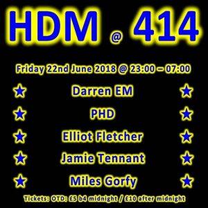 HDM at Club414 @ Club 414 Brixton - Flyer