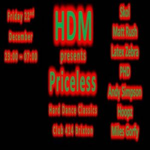 HDM at Club414 presents Priceless @ Club 414 Brixton - Flyer