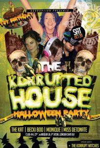 Korruption Presents: 1st Birthday & Halloween @ Club 414 Brixton - Flyer