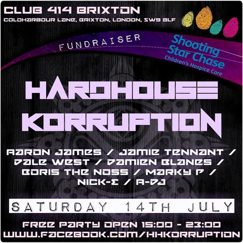 Korruption Presents: The Shooting Star Chase Children's Hospice Charity Fundraiser.