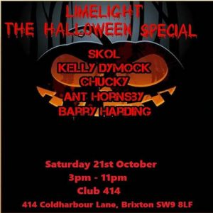 Limelight - The Halloween Special @ Club 414 Brixton - Flyer