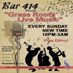 Grass Roots Live Music Sundays at Club 414, Brixton, London, SW9 8LF