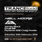TRANCElucid: February with Neill Moore/Loki/James Black + more. at Club 414, Brixton, London, SW9 8LF