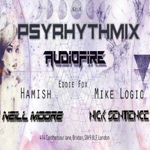 Psyrhythmix Pres. Audiofire @ Club 414 Brixton - Flyer