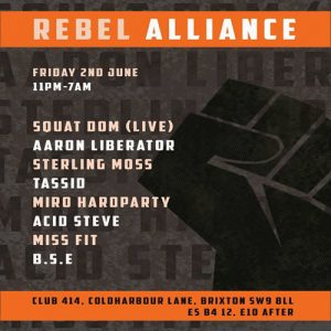 Rebel Alliance @ Club 414 Brixton - Flyer