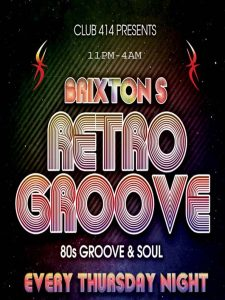 Retro Groove @ Club 414 Brixton - Flyer