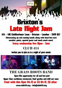 THE BRIXTON LATE NIGHT JAM @ Club 414 Brixton - Flyer