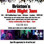 THE BRIXTON LATE NIGHT JAM at Club 414, Brixton, London, SW9 8LF