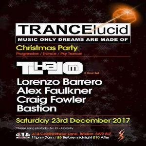 TRANCElucid: Christmas Party @ Club 414 Brixton - Flyer