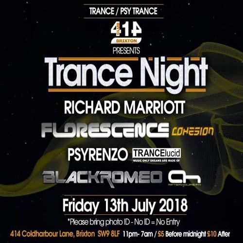 Club 414 Presents Trance/Psytrance Night