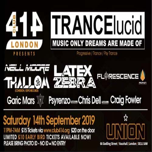 The Club 414 Road Show presents (TRANCElucid)