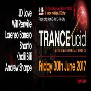 Trancelucid - June Party @ Club 414 Brixton - Flyer