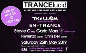 TRANCElucid @ Club 414 Brixton - Flyer