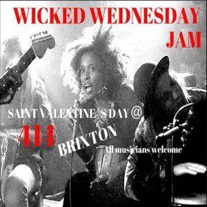 Wicked Wednesday Jam! @ Club 414 Brixton - Flyer