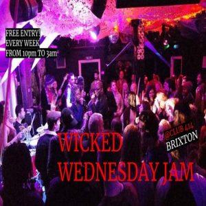 Wicked Wednesday Jam @ Club 414 Brixton - Flyer