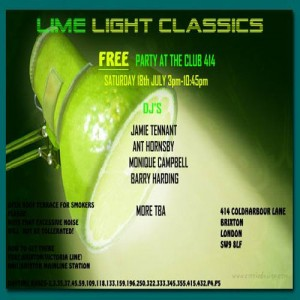 Lime light Classic's Free Launch Party @ Club 414 Brixton - Flyer