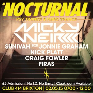 NOCTURNAL AFTER PARTY PART 3 @ Club 414 Brixton - Flyer