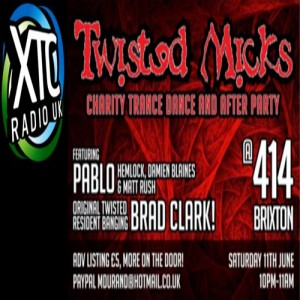 Twisted Mick Charity Party @ Club 414 Brixton - Flyer